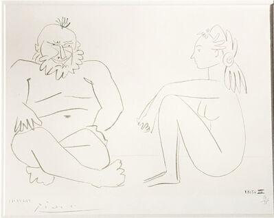 Pablo Picasso, 'Comédie Humaine,  Deux Personages, 27/1/54.XIV', 1954
