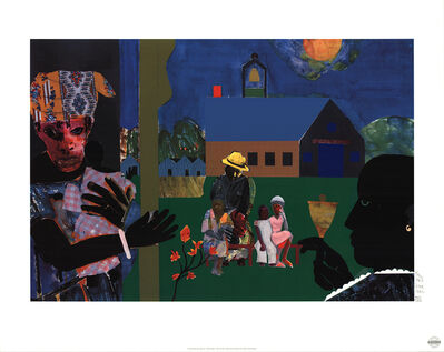 Romare Bearden, 'School Bell Time', 1994
