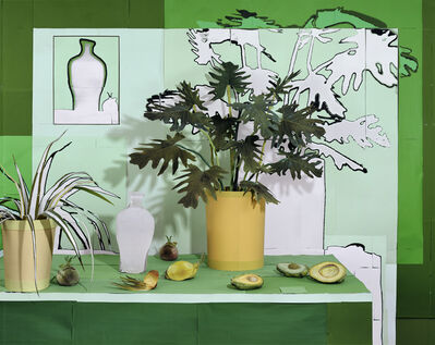 Daniel Gordon, 'Tropical Green Still Life with Avocados and Onions', 2020