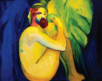 CLARA PECHANSKY, 'SEATED ADAM WITH FRUIT', 2012