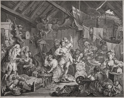 William Hogarth, ' Strolling Actresses Dressing in a Barn', 1738