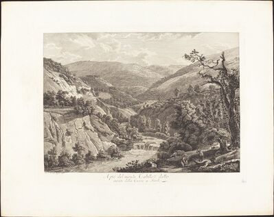 Albert Christoph Dies, 'Al pié del monte Catillo, detto monte della Croce a Tivoli', 1793