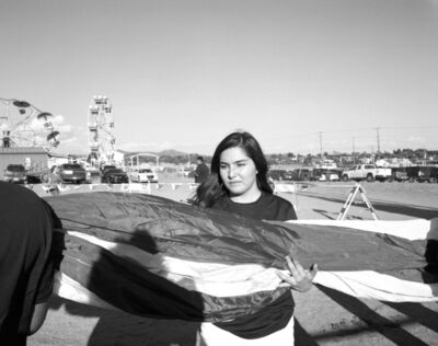 Patrice Aphrodite Helmar, 'Girl holding flag at New Mexico Rodeo', 2016