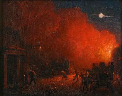 Robert Salmon, 'Fire Scene at Night', 1831