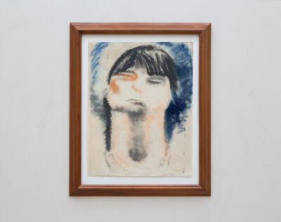Jean Fautrier, 'Portrait de femme sur fond bleu', 1926