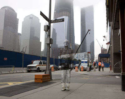 Liu Bolin, 'Hiding in New York No. 4 - Ground Zero', 2011