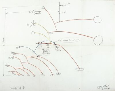 Alexander Calder, 'Untitled (The Drawing of Flower); Various Drawings and Letters'