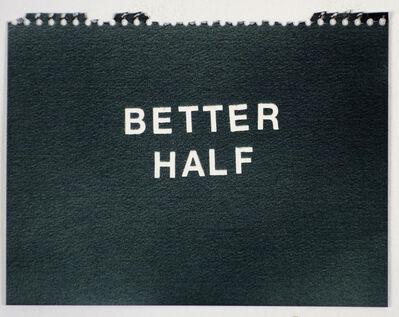 Betty Tompkins, 'Better Half (black)'