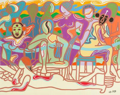 Ajarb Bernard Ategwa, 'Nkane women', 2016