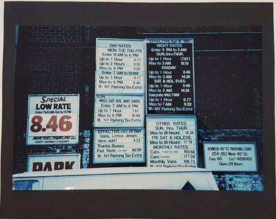 Wolff Buchholz, 'Manhattan - Parking Lot', 1990