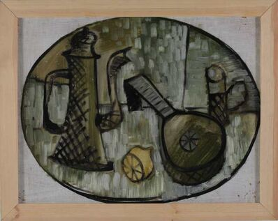Avdey Ter-Oganyan, 'Still life with a coffee pot and a mandoline.', 1984