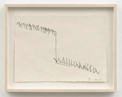 "Barry Le Va, 'Working Drawings for Installation, ""Adjacent (Cleaved Wall)"" (1969 / 2017)', 1969/2017"