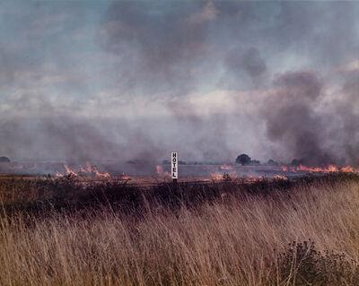 Paul Graham, 'Burning Fields, Melmerby, North Yorkshire, September', 1981