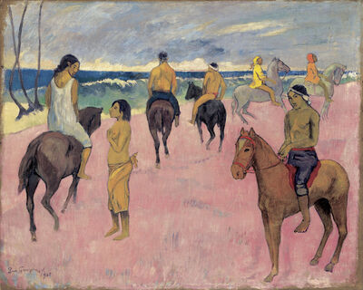 Paul Gauguin, 'Cavaliers sur la plage (II) (Riders on the Beach (II)', 1902