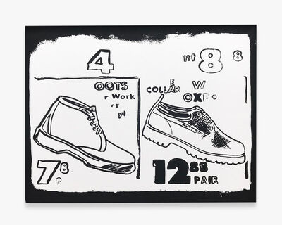 Andy Warhol, 'Work Boots (Positive)', 1985-1986