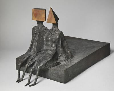 Lynn Chadwick, 'Sitting Couple on Base II', 1972