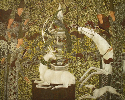 Timur D'Vatz, 'Garden of Dreams (triptych)'