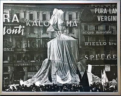 Christo, 'Wrapped Monument to Vittorio Emanuele II, Project for Piazza del Duomo, Milan, Italy, from the Estate and Collection of Jacob and Aviva Bal Teshuva (Schellmann, 82) ', 1975