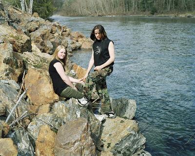 Eirik Johnson, ' Deborah and William along the Sauk River, Washington', 2006