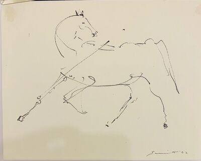 Walter Quirt, 'Untitled (Linear Horse)', 1962