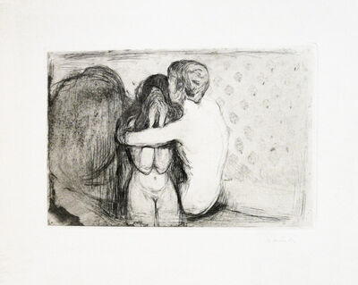 Edvard Munch, 'Trøst (Consolation)', 1894