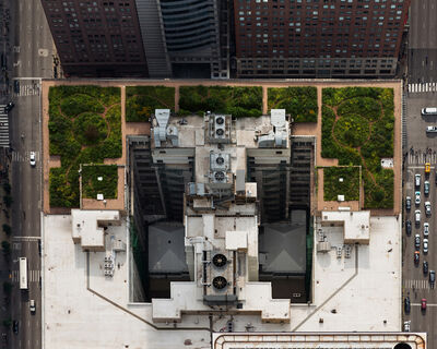 Brad Temkin, 'City Hall (from above, looking West), Chicago, IL July', 2013