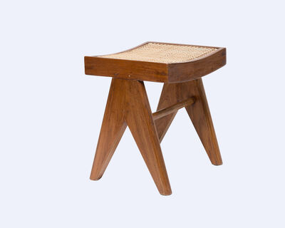 Pierre Jeanneret, 'Low Stool', ca. 1960