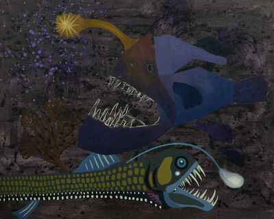 Yang Mao-Lin, 'Wanderers of the Abyssal Darkness.Triplewart Seadevil and Viperfish S1704', 2018