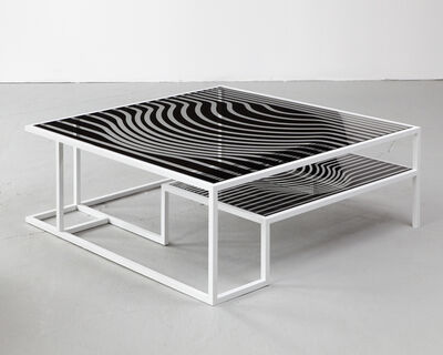 "Kelly Behun Studio, 'AFTER VICTOR // ""Op Art"" cocktail table', 2012"