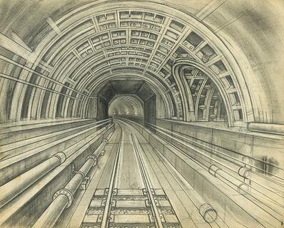 Renaldo Kuhler, 'Metro Tunnel, Eastbound from Ciudad Eldorado', ca. 1960