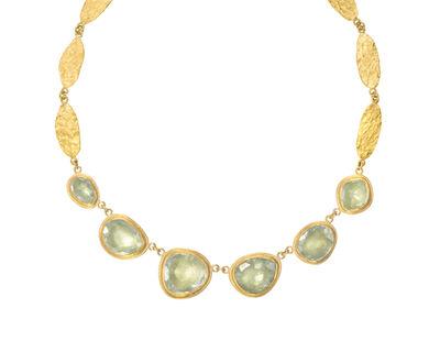 Petra Class, 'Aqua Gold Necklace'