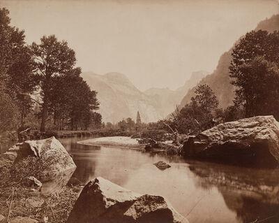 Eadweard Muybridge, 'Falls of Yosemite, Great Grizzly Bear', 1872