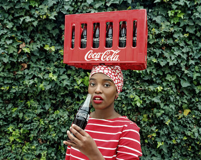 Tony Gum, 'Black Coca-Cola Series - Pin up', 2015