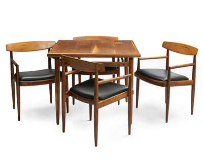 Sam Maloof, 'Game table with four low-back chairs'