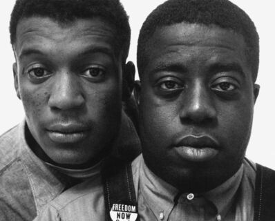 Richard Avedon, 'Jerome Smith and Isaac Reynolds, civil rights workers, New York City', 1963