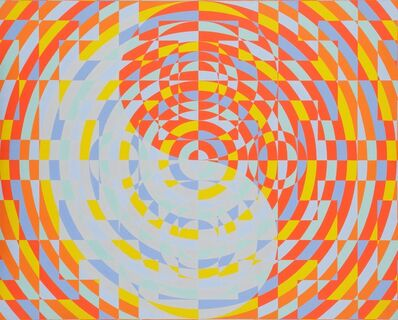 Onosato Toshinobu, 'Concentric Circle,  Blue', 1971