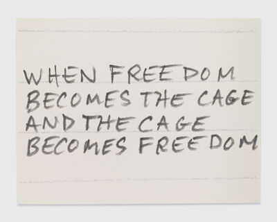 Sean Landers, 'When Freedom Becomes the Cage and the Cage Becomes Freedom', 2017