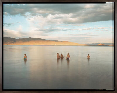 Richard Misrach, 'Boyscouts and Fremont's Pyramid, Pyramid Lake Indian Reservation, Nevada', 1991