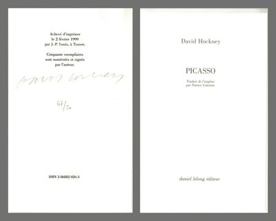 David Hockney, 'Picasso (Hand signed and numbered by Hockney)', 1999