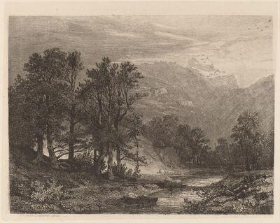 Alexandre Calame, 'Mountain Stream', 1840