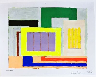 Peter Halley, 'Untitled (11/21/95.6 -  Purple and Yellow prison)', 1996