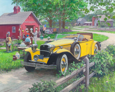 Harry Anderson, 'Barn Antiques, 1930 Ruxton, Great Moments in Early American Motoring'