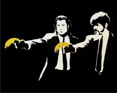 Banksy, 'Pulp Fiction Unsigned', 2004