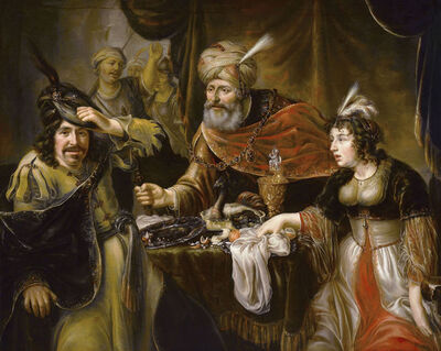 Johannes Spilberg the Younger, 'The Feast of Esther', ca. 1644