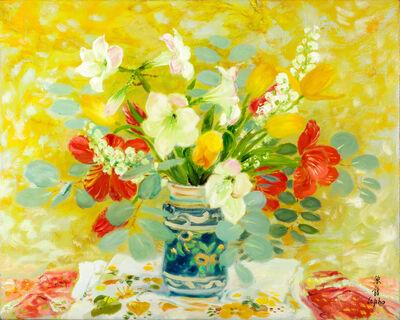 Le Pho, 'Les Tulipes et les Anthuriums', 1977