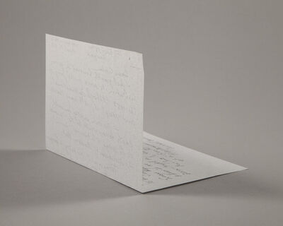 Lenka Clayton, 'Letter from a Sculptor (Duchamp)', 2019