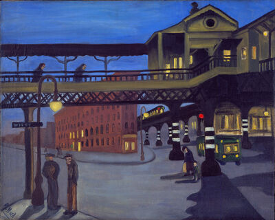Alice Neel, 'NINTH AVENUE EL', 1935