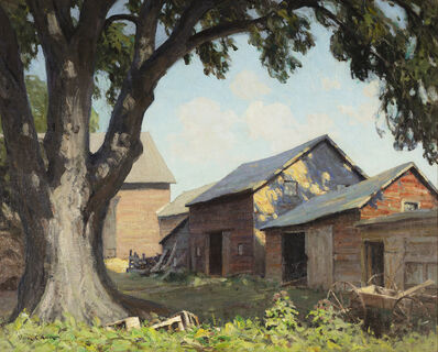 Victor Coleman Anderson, 'Old Farm Sheds (Spring Shadows)'