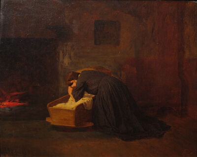 Eastman Johnson, 'The Cradle Song', ca. 1866