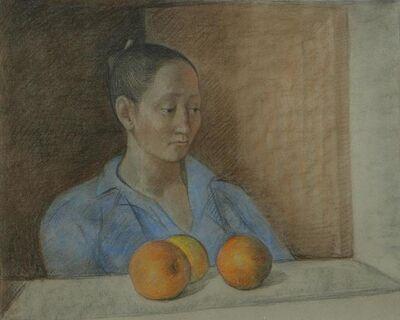 Francisco Zúñiga, 'Mujer con Naranjas', 1982